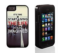 Leben das wahre Leben Muster 2 in 1-Hybrid Rüstung Ganzkörper-Dual-Layer-Schock-Schutz schlanke Fall für iPhone 5/5 s