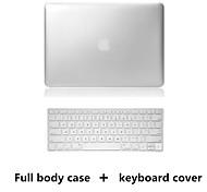 caso corpo e TPU tampa superior venda estilo de metal PVC rígido completo teclado para macbook retina 13,3 polegadas (cores sortidas)
