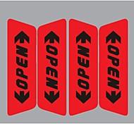 розничная отражающей двери автомобиля стикер открытые слова предупреждения защитная наклейка автомобиль укладка 2 цвета на размер продажи: