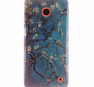 patrón de albaricoquero TPU caso suave para Nokia Lumia 630/635/636/638