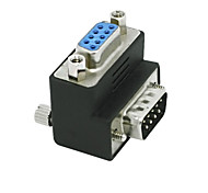 RS232 DB9 9Pin Male to Female Adapter 90 Degree Converter Adapter