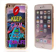 bunt Ihr Leben Design Luxus-Hybrid-bling Funkeln-Schein mit Kristallrhinestone-Kasten für iPhone 6