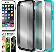 caso trasero claro cristal grande d para el iphone 6 (color clasificado)