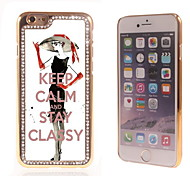 Keep Calm and Stay Classy Design Luxury Hybrid Bling Glitter Sparkle With Crystal Rhinestone Case for iPhone 6
