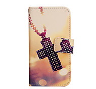 Cross Pattern PU Leather Case with Stand for Samsung Galaxy A3