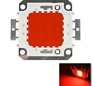 diy 20w cor vermelha chip de lâmpada de poupança de energia de alta potência levou módulo (dc 20-22v)