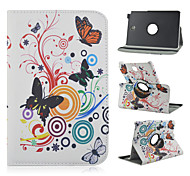 8-Zoll-360-Grad-Drehung Schmetterlingsmuster Standplatzfall für Samsung Galaxy Tab 8.0 einen SM-T350 / T351