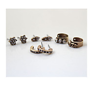 21 Brand Vintage Personality Five Kinds Of Combinations Earrings*5pc