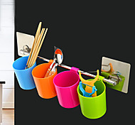 Kitchen & Bathroom Organization Cup or Towel Bar/ Reusable Non-trace Sticker/Random Color