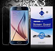hd protezione dello schermo con polvere assorbente per il bordo della galassia di Samsung S6 (3 pc)