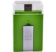 Micro USB OTG 2.0 HUB & Card Reader for Smart Phone & Computer - Green