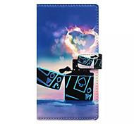 легче картины карточки бумажника PU дело с подставкой для Samsung Galaxy S6