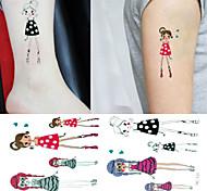 Tatuaggi adesivi - Altro Bambino/Da donna/Girl/Da uomo/Adulto/Boy/Teen - 3 - Modello - di Carta - 6*5 - Multicolore -Non