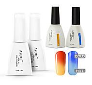 azzurro 4 pc / lotto impregnano fuori dal gel del chiodo uv led colore dello smalto che cambia gel manicure nail art gel (# 23 + # 33 +