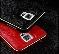 Special Design High quality Genuine Leather Back Cover Metal Bumper for Samsung Galaxy Note 3
