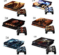 Designer Vinyl Skin for Gaming PS4 Console and 2 Free Controller Sticker Decal for PS4