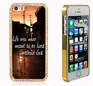 Leben mit Gott-Design Luxus-Hybrid-Bling Funkeln-Schein mit Kristallrhinestone-Kasten für iPhone 5/5 s