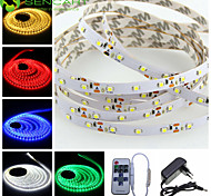 5M 25W 300x3528SMD LED Strip Lights + EU Power Supply Adapter + 11Key Remote Controller AC100-240V