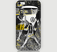 Three People Pattern Phone Case Back Cover Case for iPhone5/5