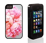 blossomy rosa disegno 2 in 1 ibrido armatura caso sottile di tutto il corpo a doppio strato di shock-protezione per il iphone 5 / 5s / 5s