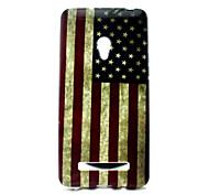 patrón de la bandera americana cubierta solf del tpu para el asus zenfone 5