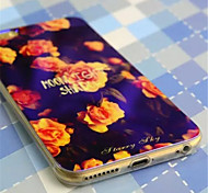 Laser light Chinese rose  Pattern Plastic Hard Back Cover for iPhone 6