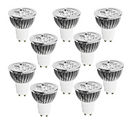 10 pcs GU10 4W 4 High Power LED 320 LM Warm White / Cool White / Natural White Dimmable LED Spotlight AC 220-240 V