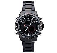 Markenuhren Herren Armbanduhren Geschäfts hochwertigem Edelstahl Band Uhren mit wasserdicht 30m