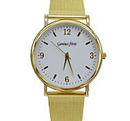 Women Elegant Golden Quartz Watch Mesh Band Watches Vogue Leisure Wristwatches Waterproof Dress Watch