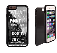 The Point of Life Design 2 in 1 Hybrid Armor Full-Body Dual Layer Shock-Protector Slim Case for iPhone 6 Plus