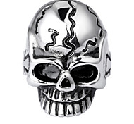 Toonykelly® Fashionable Antique Silver Stainless Steel Skull Skeleton Unadjustable Ring(1PC)