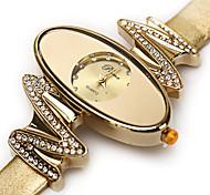 Mode prema Markenlederdame kausalen Uhr Analoganzeige Frauen kleiden Uhr-Quarz-Armbanduhr (Farbe sortiert)