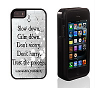 Trust the Process Design 2 in 1 Hybrid Armor Full-Body Dual Layer Shock-Protector Slim Case for iPhone 5/5S