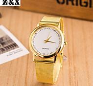 relógio de forma de diamante de quartzo analógico aço cinto de banda de pulso das mulheres (cores sortidas)