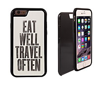 Eat Travel Design 2 in 1 Hybrid Armor Full-Body Dual Layer Shock-Protector Slim Case for iPhone 6 Plus