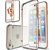 GYM Clear Acrylic Back Case for iPhone 6(Assorted Color)