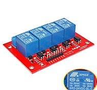 Four Relay -24V (Red)