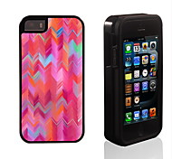 Dreamlike Colorful Ripple Pattern 2 in 1 Hybrid Armor Full-Body Dual Layer Shock-Protector Slim Case for iPhone 5/5S