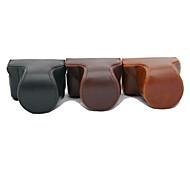 dengpin pu piel aceite de cuero bolsa caso de cámara desmontable para gf7 panasonic con lente 12-32mm 14-42mm (colores surtidos)
