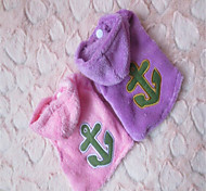 Holdhoney Embroidered Anchor Terry Cloth Small Hoodies SpecialFor Small Pets Dogs (Assorted Sizes) # LT15050021
