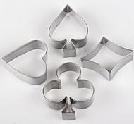 Poker-förmigen Plätzchenform Karte Metallkuchenformen Küche Werkzeuge verziert 3,5 x 2,5 x 2 cm