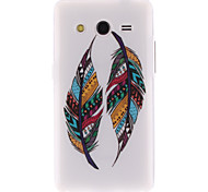 Colored Feather Patterns TPU Soft Cover for Samsung Galaxy Core 2 G3556D/G355H
