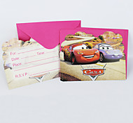 Cars Invitation Cards 12pcs/lot