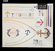1Pc Long Bracelet And Necklace Waterproof Tattoo Sticker  24x21CM