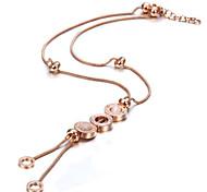Circle Round Pendant Necklace