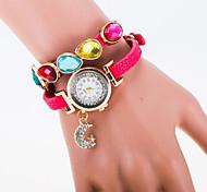 cadran rond cas montre perle la montre à quartz marque de mode des femmes (plus de couleurs disponibles)