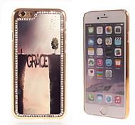el brillo brillo híbrido de diseño de lujo bling de la gracia con la caja de diamantes de imitación de cristal para el iphone 6