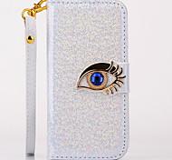 blauen Augen-Muster Ganzkörper Fall mit Ständer für iPhone 5/5 s