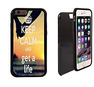 behalten Sie Ruhe und erhalten ein Leben Entwurf 2 in 1-Hybrid Rüstung Ganzkörper-Dual-Layer-Schock-Schutz schlanke Fall für iPhone 6 Plus