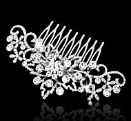 Vintage Carbonneau Vintage Rhinestone/Crystal/Diamomd Pearls Wedding Hair Comb For Bridal